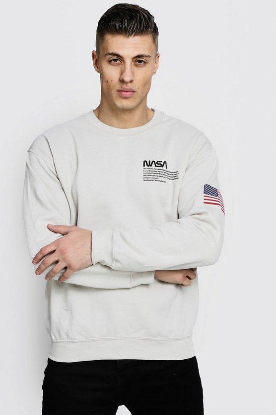 Nasa License Sweatshirt by Boohoo