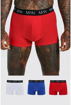 3 Pack Mixed Colour MAN Dash Trunks, Multi