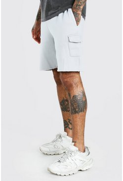 Mid Length Washed Cargo Short, Lilac