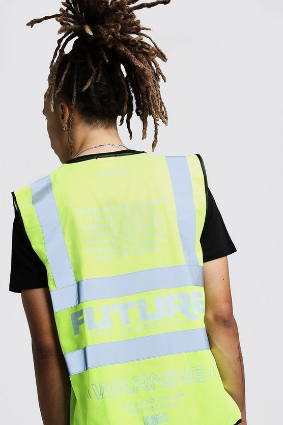 Reflective Detail MAN Future Hi-Vis Vest, Yellow, HERREN