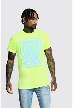 Regular Amour Poster Print Tee, Green, HERREN
