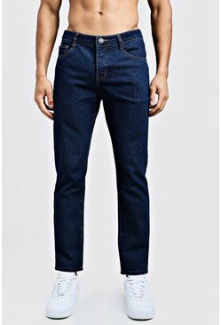 Jeans slim fit in denim rigido, Indaco, Maschio