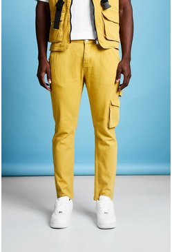 Mens Mustard Slim Fit Denim Jeans