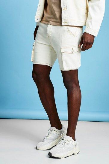 7cc0fbfec5 Slim Fit Cargo Denim Shorts