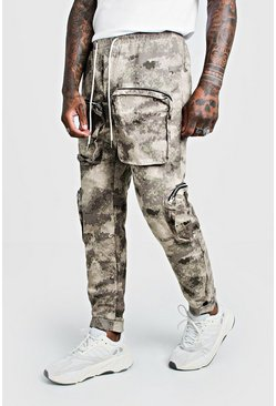 Herr Blurred Camo Cargo Trouser With 3D Pockets
