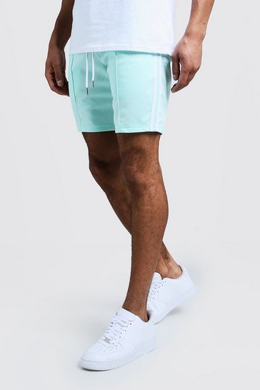 Mens Aqua Tricot Tape MAN Mid Length Short