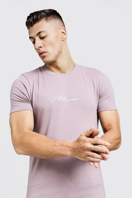 Bark MAN Signature Embroidered Muscle Fit T-Shirt