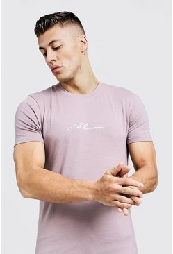 Herr Bark MAN Signature Embroidered Muscle Fit T-Shirt