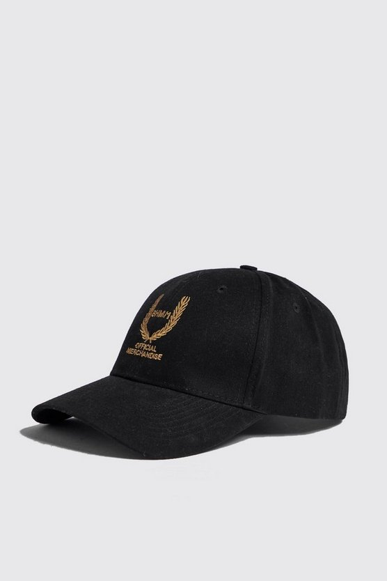 Mens Black BHM Offical Gold Embroidered Cap