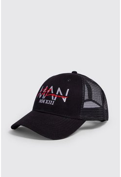 Herr Black MAN Dash Overlay Embroidered Trucker