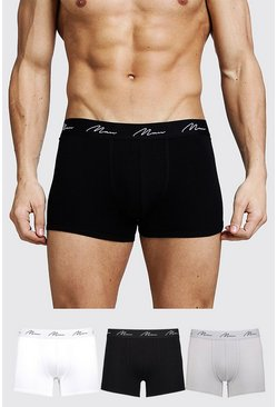 Herr Multi 3 Pack MAN Signature Mixed Colour Trunks