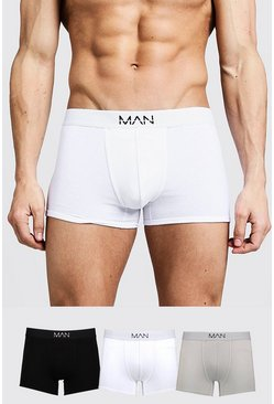 Herr Multi 3 Pack Mixed Colour MAN Trunks