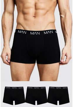 Herr Black 3 Pack MAN Trunks