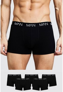 "5er-Pack ""MAN""-Shorts, Schwarz"