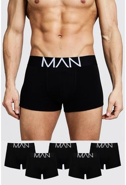 Lot de 5 boxers MAN, Noir