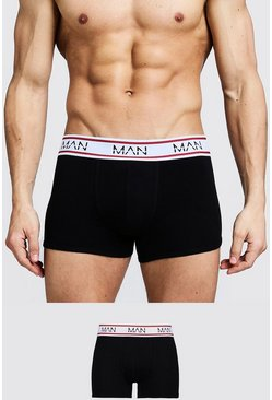 Black 3 Pack MAN Sport Trunks