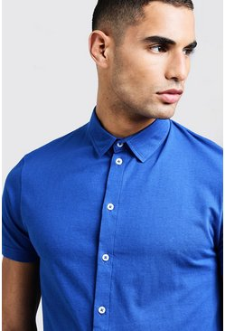 Mens Cobalt Short Sleeve Jersey Shirt
