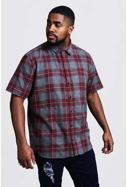 Mens Red Big & Tall Check Regular Fit Shirt