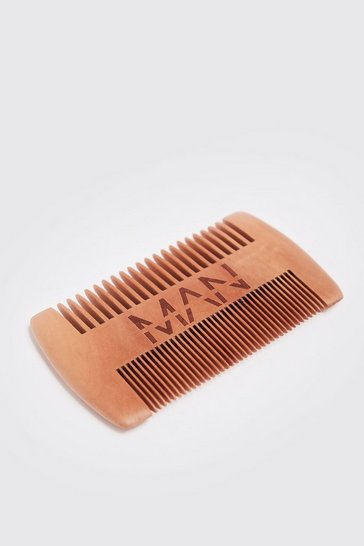 Mens Brown MAN Beard Comb