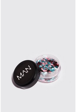 Mens Multi Festival Face Glitter Pot