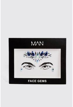 Mens Blue Festival Face Gems