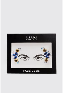 Mens Multi Festival Face Gems