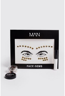Mens Multi Festival Glitter & Gems Pack