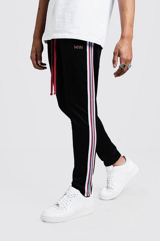 Pink Original MAN Tricot Joggers With Side Tape