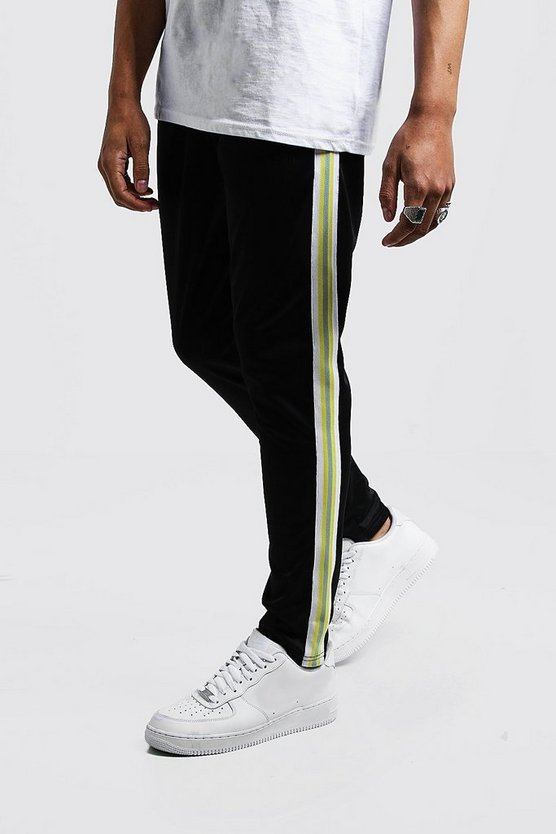 Mens Yellow Original MAN Tricot Joggers With Tape