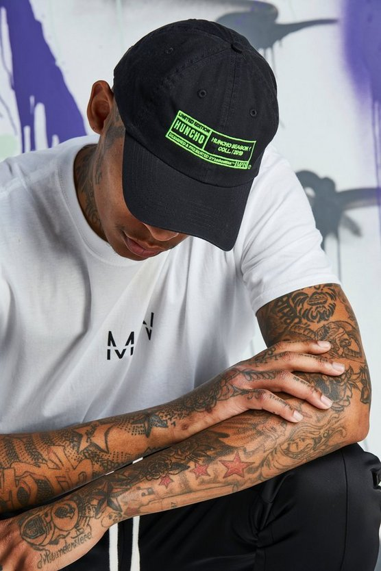 Mens Green Quavo Front & Back Embroidered Dad Cap