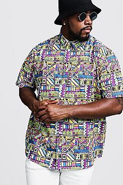 Big & Tall Multi Print Regular Fit Shirt