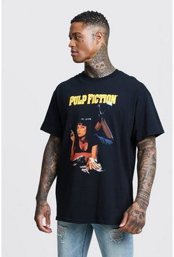 "T-shirt oversize di Mia con licenza del film ""Pulp Fiction"", Nero"