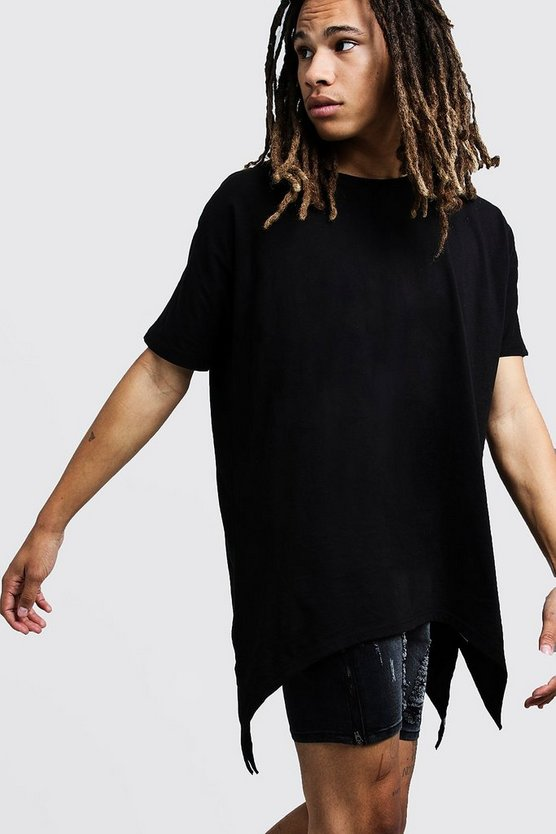 Black Drop Shoulder Short Sleeve Tee