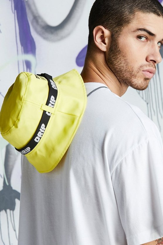Neon-yellow Quavo Drip Tape Bucket Hat