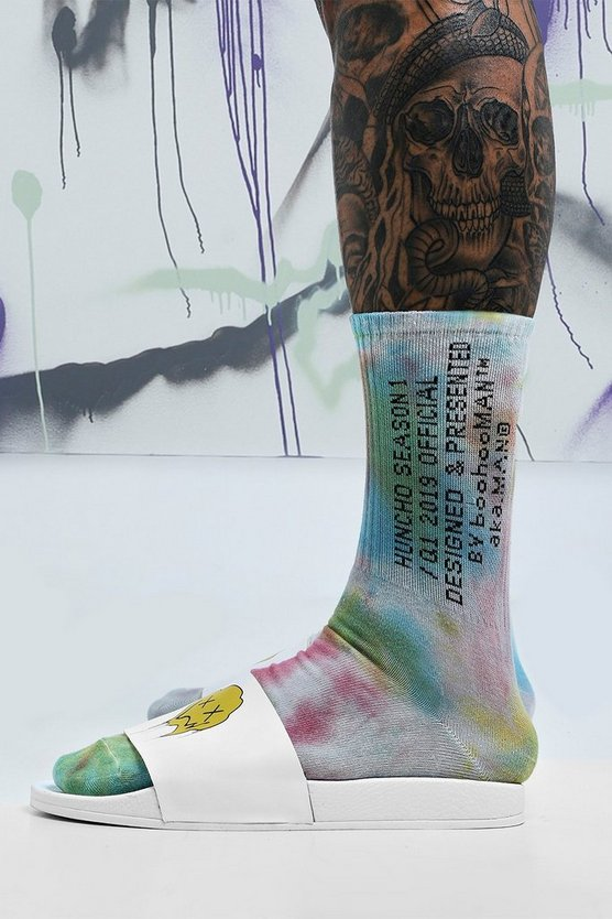 Multi Quavo Tie Dye 2 Pack Socks