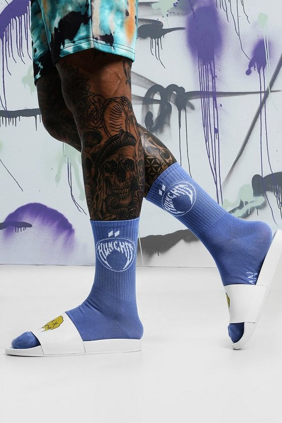 Mens Blue Quavo Blue & White 2 Pack Socks