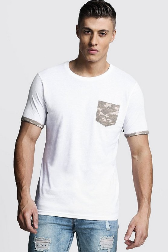Camo Pocket Print T-Shirt