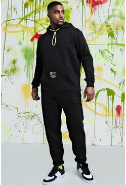 Mens Black Big & Tall Quavo Skinny MAN Official Tracksuit