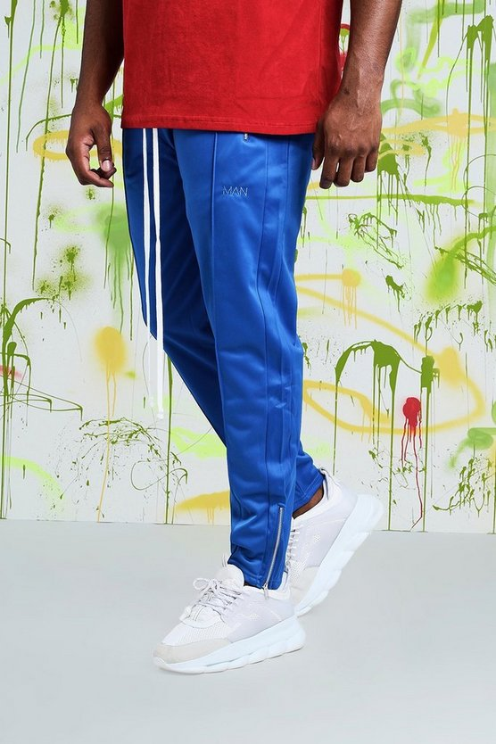 Mens Blue Big & Tall Quavo Tricot Pintuck Joggers