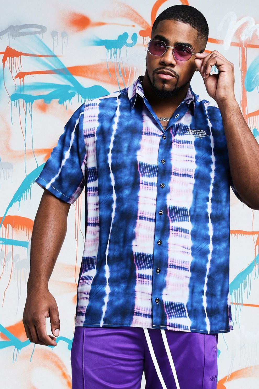 6a5d190de18 Big   Tall Quavo Tie Dye Shirt With Print