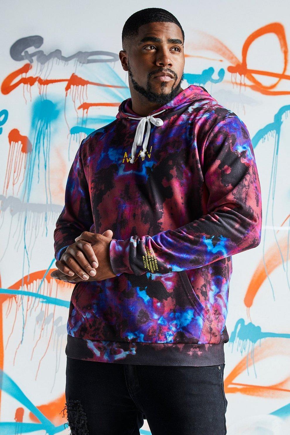 b0cfe1ab8a4 Big   Tall Quavo Tie Dye Hoodie With Print