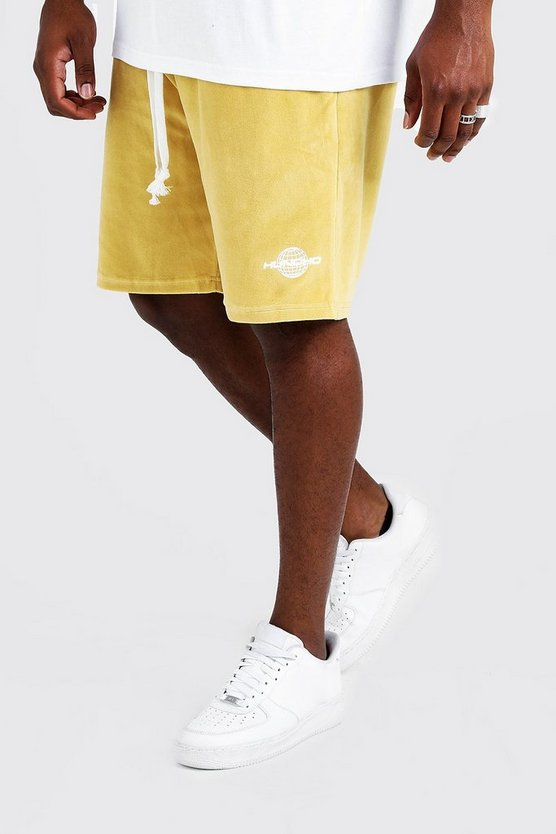 Gold Big & Tall Quavo Velour Short With Print
