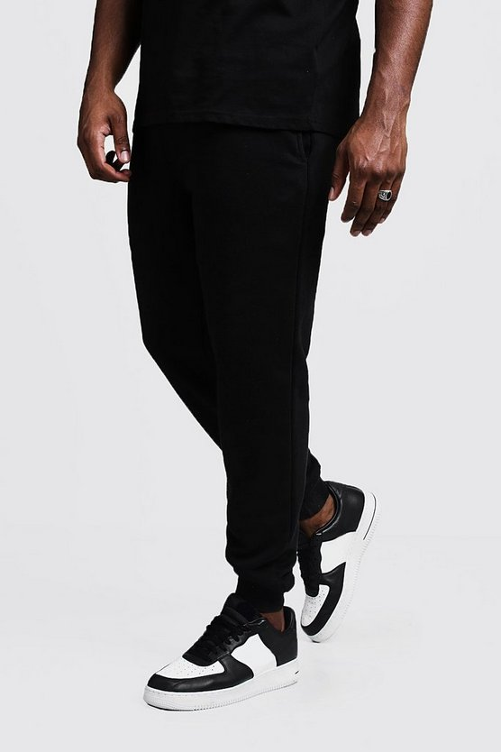Mens Black Big And Tall MAN Printed Skinny Fit Joggers