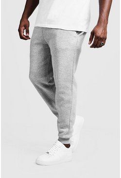 Mens Grey Big And Tall MAN Printed Skinny Fit Joggers
