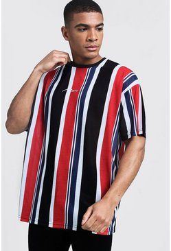 Herr Multi Oversized MAN Signature Stripe T-Shirt