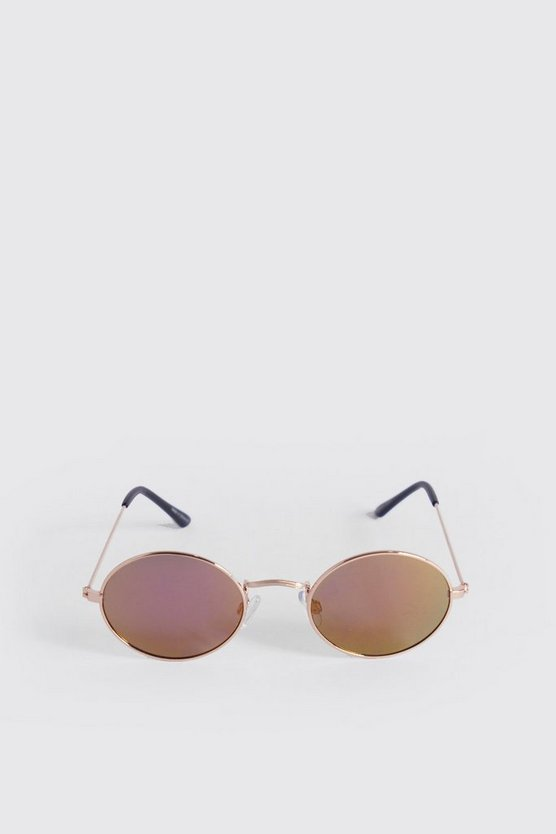 Multi Vintage Look Oval Sunglasses
