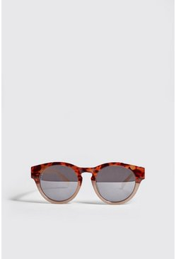 Mens Brown Retro Acetate Sunglasses