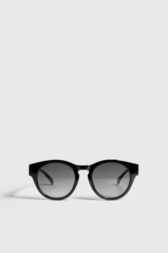 Mens Black Retro Acetate Sunglasses