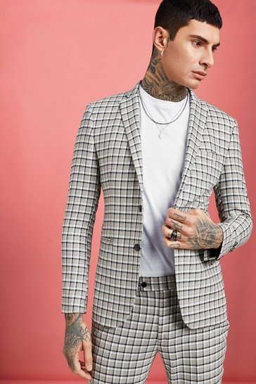 ab08f2d526158 Mens Suits   Slim, Tailored & Regular Fit Suits   boohoo