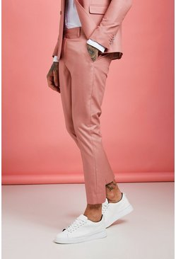 Pantalon court Skinny uni, Rose